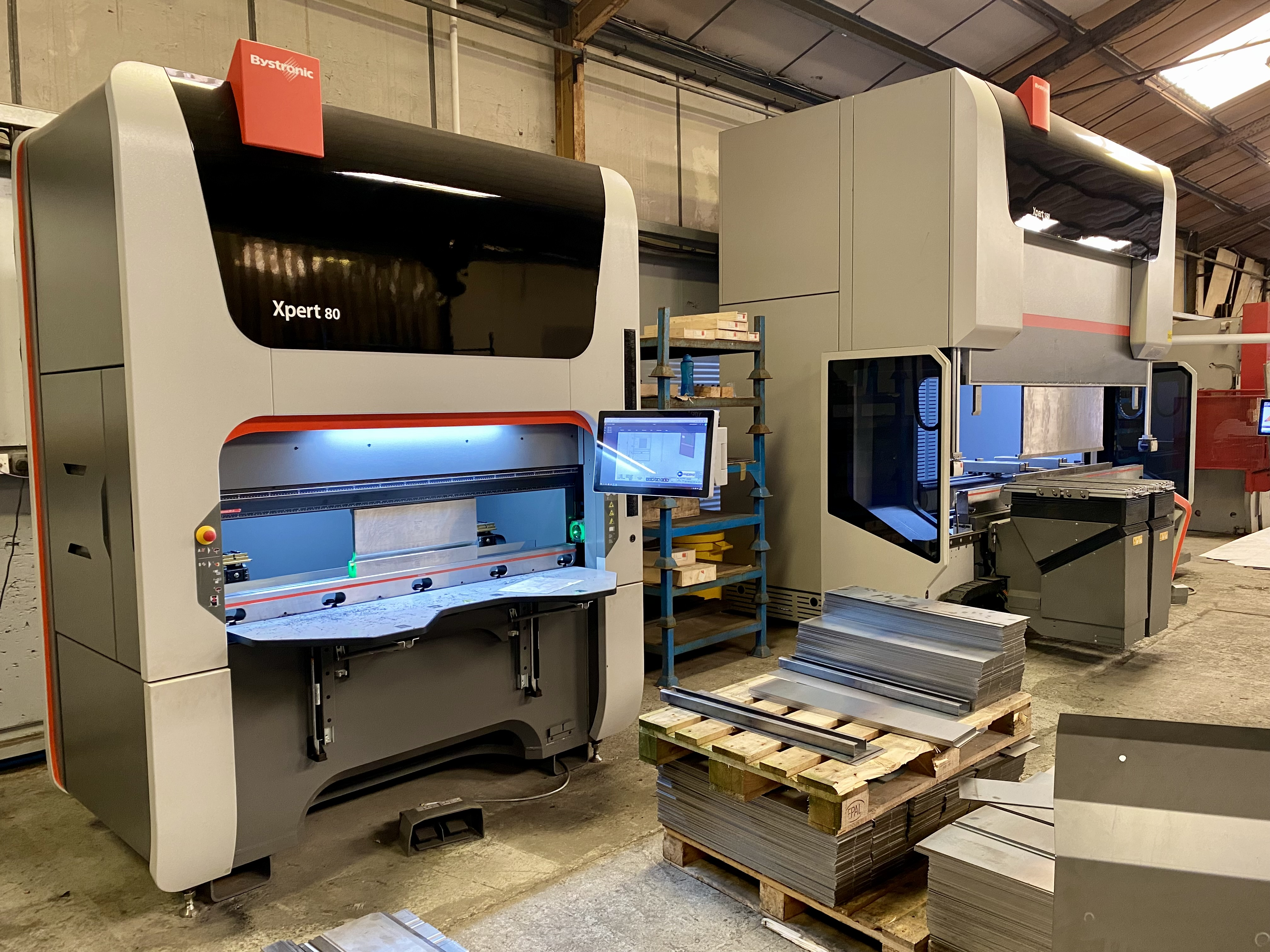The Bystronic Xpert 80 Press Brake in the Amcanu factory.