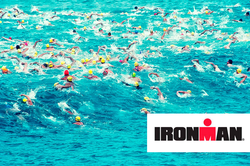 Ironman swimmers