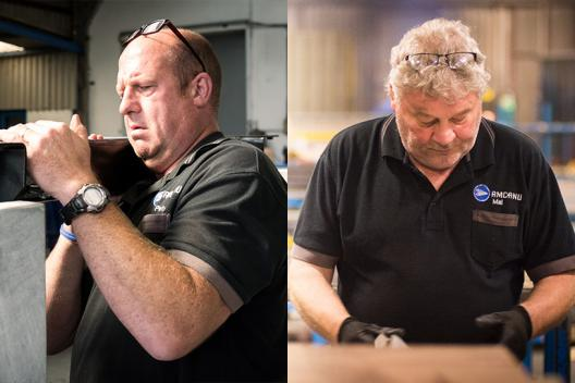 Peter (Assembly Line) and Mal (Sheet Metal Department)